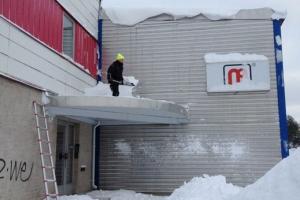 NP snöröjning av tak